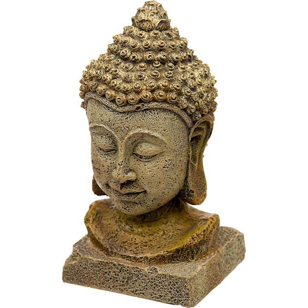 Blue Ribbon Thai Buddha Head Aquarium Ornament - Carousel image #1