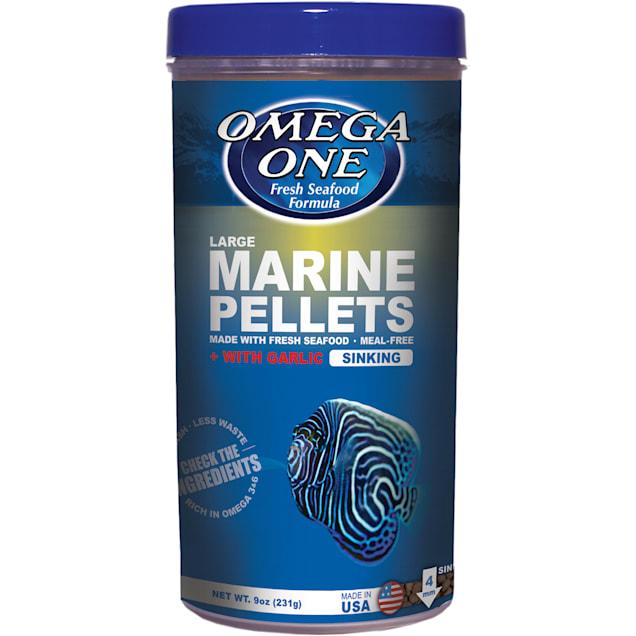 Omega One Garlic Marine Large Sinking Pellets, 9 oz. - Carousel image #1