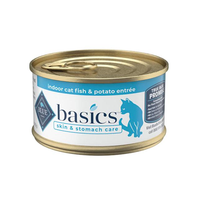 Blue Buffalo Blue Basics Adult Grain-Free Fish and Potato Entree Wet Cat Food, 3 oz., Case of 24 - Carousel image #1