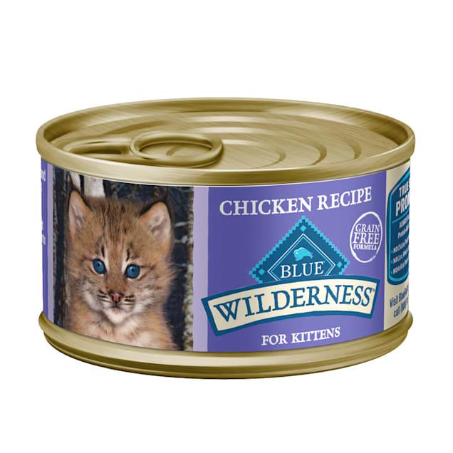 Blue Buffalo Blue Wilderness Kitten Chicken Recipe Wet Cat Food, 3 oz., Case of 24 - Carousel image #1