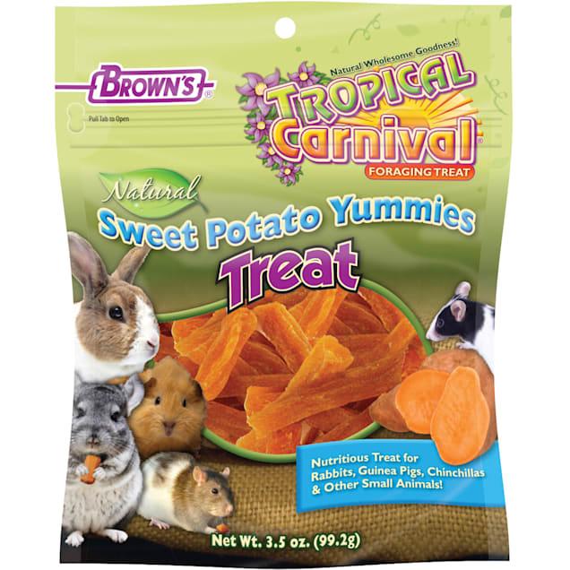 Brown's Tropical Carnival Natural Sweet Potato Yummies Treat, 3.5 oz. - Carousel image #1