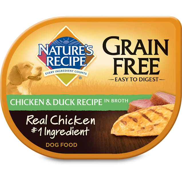 Nature's Recipe Grain Free Adult Dog Food Trays, Chicken & Duck, 2.75 oz., Case of 12 - Carousel image #1