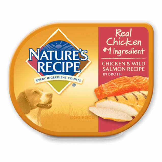 Nature's Recipe Adult Dog Food Trays, Chicken & Salmon, 2.75 oz., Case of 12 - Carousel image #1