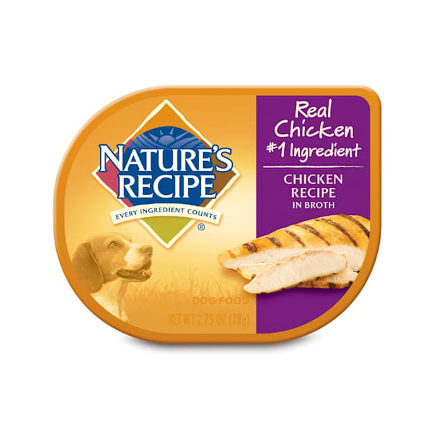 Nature's Recipe Adult Dog Food Trays, Chicken, 2.75 oz., Case of 12 - Carousel image #1