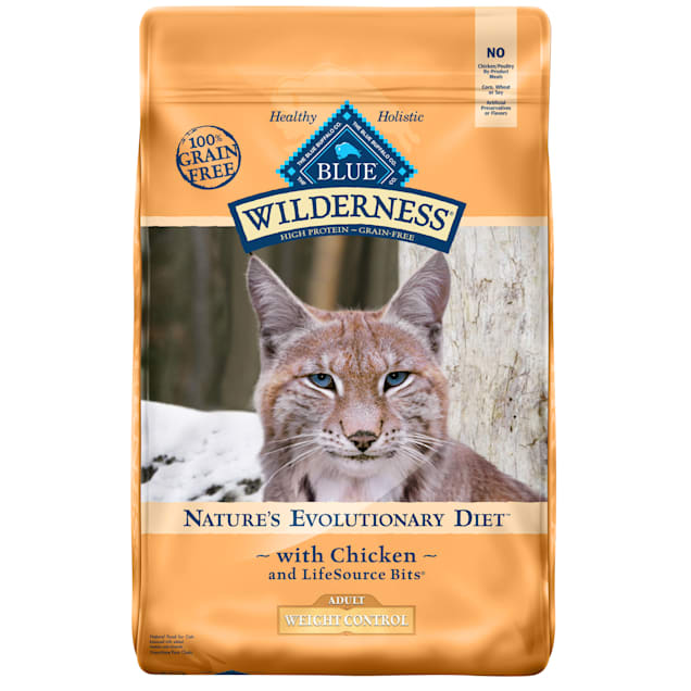 Blue Buffalo Blue Wilderness Adult Weight Control Chicken Recipe Dry Cat Food, 11 lbs. - Carousel image #1