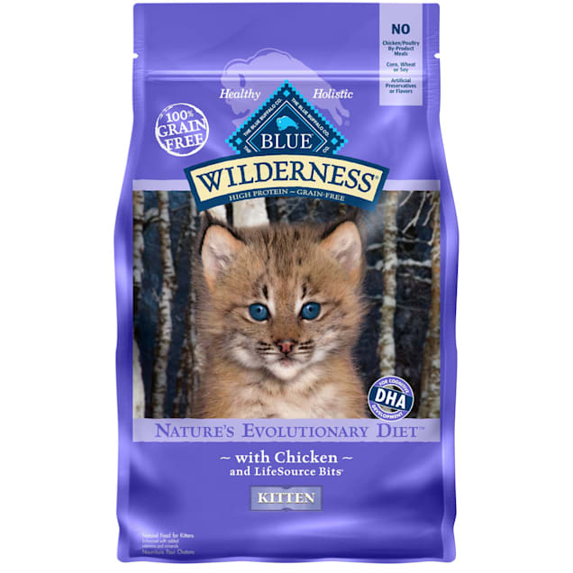 Blue Buffalo Wilderness Natural Kitten High Protein Grain Free Chicken Dry Cat Food, 5 lbs. - Carousel image #1