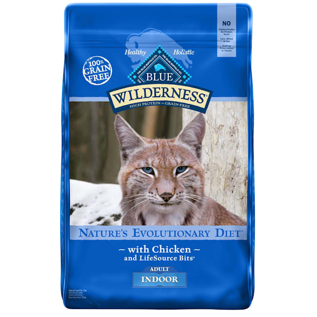 Blue Buffalo Blue Wilderness Adult Indoor Chicken Recipe Dry Cat Food, 11 lbs. - Carousel image #1