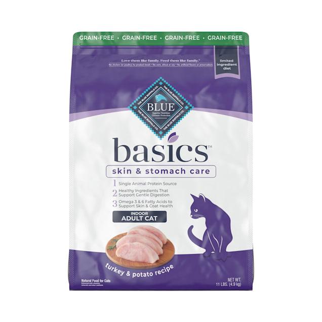 Blue Buffalo Blue Basics Limited Ingredient Grain Free Turkey & Potato Indoor Adult Cat Food, 11 lbs. - Carousel image #1