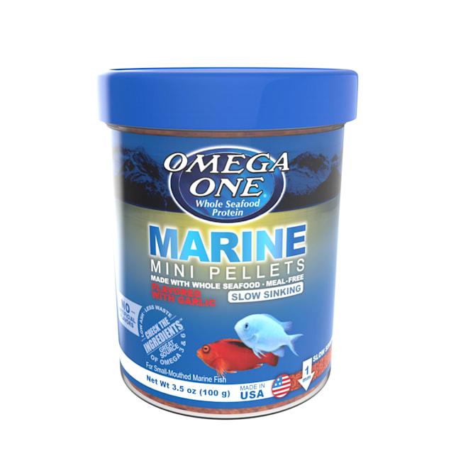 Omega One Garlic Marine Slow-Sinking Mini Pellets, 3.5 oz. - Carousel image #1