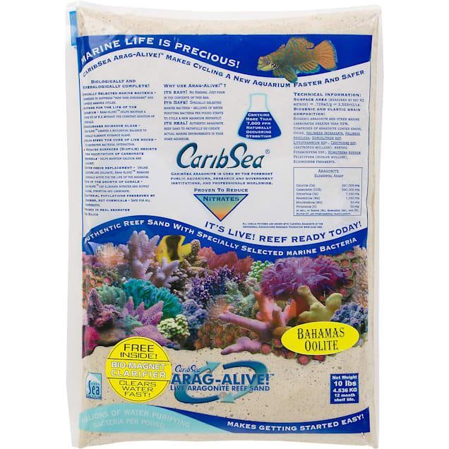 CaribSea Arag-Alive Bahamas Oolite Aquarium Sand, 10 lbs. - Carousel image #1