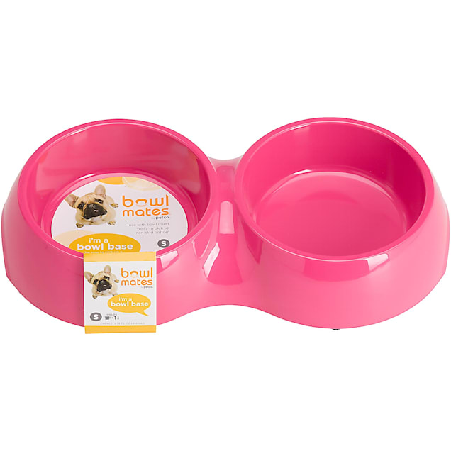 Bowlmates Pink Double Round Base, 1.75 Cup - Carousel image #1