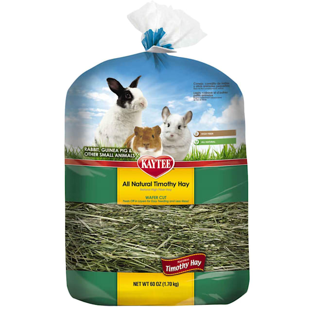 Kaytee All Natural Timothy Wafer-Cut Hay for Rabbits & Small Animals, 60 oz - Carousel image #1