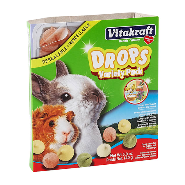 Vitakraft Drops Variety Pack Rabbit & Guinea Pig Treat, 5 oz. - Carousel image #1