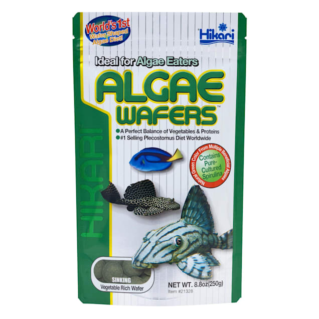 Hikari Tropical Algae Wafers for Bottom Feeding Herbivorous Fish, 8.8 oz. - Carousel image #1