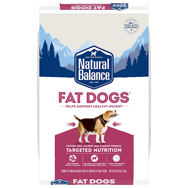 Natural Balance Fat Dogs Chicken Meal, Salmon Meal & Barley Formula Adult Dry Food, 28 lbs. - Carousel image #1