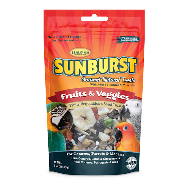 Higgins Sunburst Gourmet Natural Treats - Fruits & Veggies Large, 5 oz - Carousel image #1
