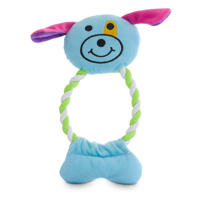 Petco 2 for 5 Toys In The Loop Animal Plush & Rope Dog Toy in Various Styles, Medium - Carousel image #1