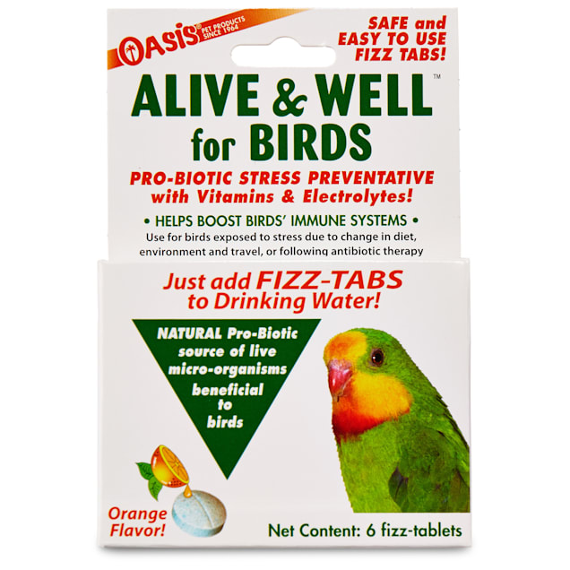 Oasis Alive & Well Probiotic Bird Water Tablets, Pack of 6 tablets - Carousel image #1