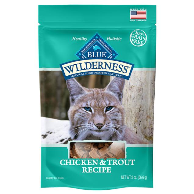 Blue Buffalo Blue Wilderness Chicken & Trout Cat Treats, 2 oz. - Carousel image #1
