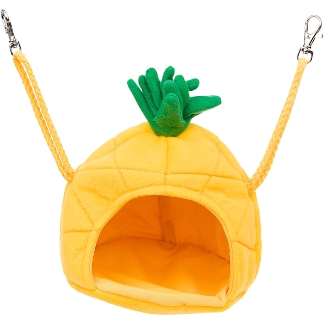 "Multipet Medium Yellow Pineapple House Small Animal Hideaway, 5.5"" L X 5.5"" W X 6"" H - Carousel image #1"