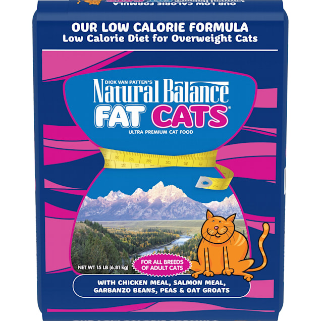 Natural Balance Fat Cats Low Calorie Chicken & Salmon Meal for Adult Dry Cat Food, 15 lbs. - Carousel image #1