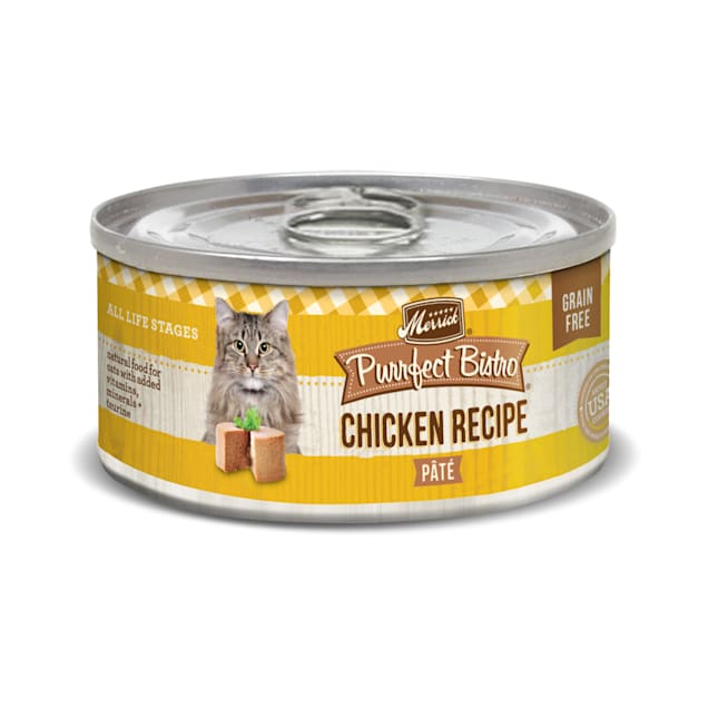 Merrick Purrfect Bistro Grain Free Chicken Pate Wet Cat Food, 3 oz., Case of 24 - Carousel image #1