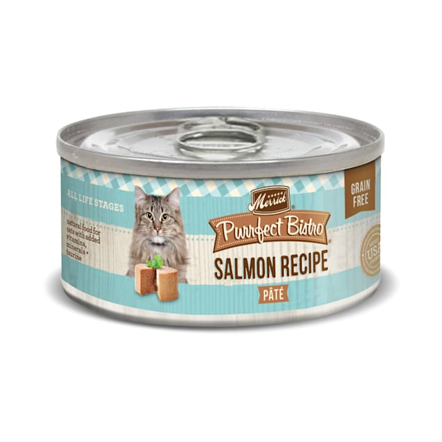 Merrick Purrfect Bistro Grain Free Salmon Pate Wet Cat Food, 3 oz., Case of 24 - Carousel image #1