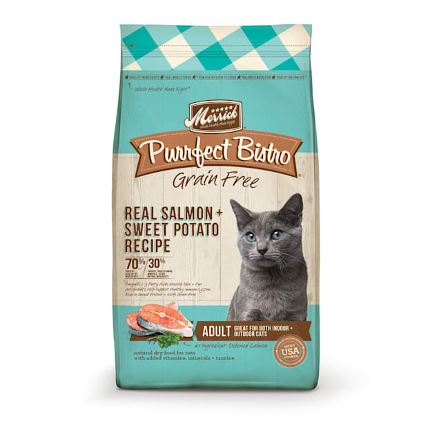 Merrick Purrfect Bistro Grain Free Real Salmon Adult Dry Cat Food, 12 lbs. - Carousel image #1