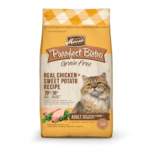 Merrick Purrfect Bistro Grain Free Real Chicken Adult Dry Cat Food, 12 lbs. - Carousel image #1