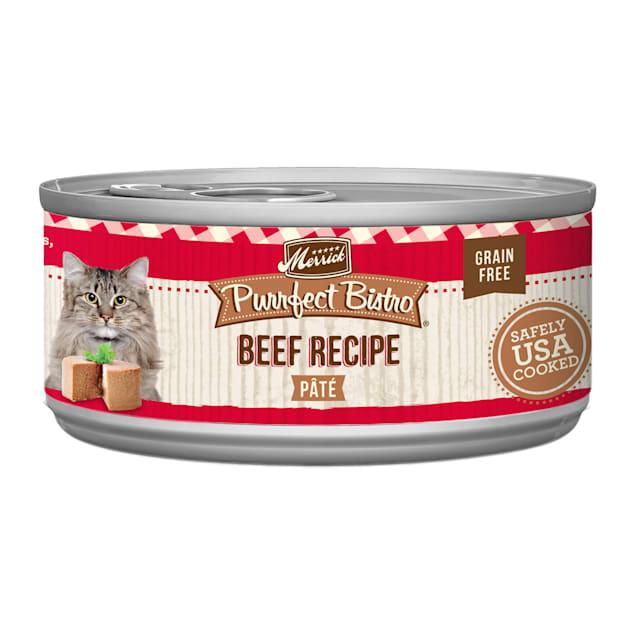 Merrick Purrfect Bistro Grain Free Beef Pate Wet Cat Food, 5.5 oz., Case of 24 - Carousel image #1