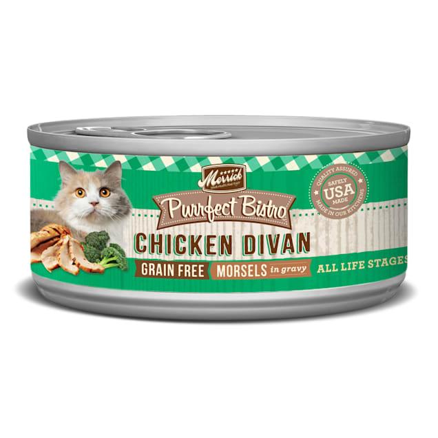 Merrick Purrfect Bistro Grain Free Chicken Divan Wet Cat Food, 5.5 oz., Case of 24 - Carousel image #1
