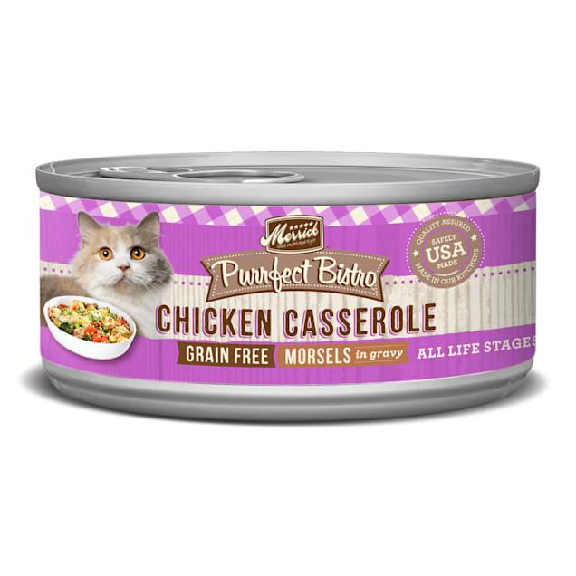 Merrick Purrfect Bistro Grain Free Chicken Casserole Wet Cat Food, 5.5 oz., Case of 24 - Carousel image #1