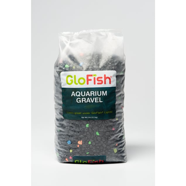 GloFish Black Multi-Color Lagoon Aquarium Gravel, 5 lbs. - Carousel image #1
