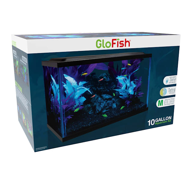"GloFish Glass Aquarium Kit 10 Gallon, 18.5"" L X 10.5 "" W X 13"" H - Carousel image #1"