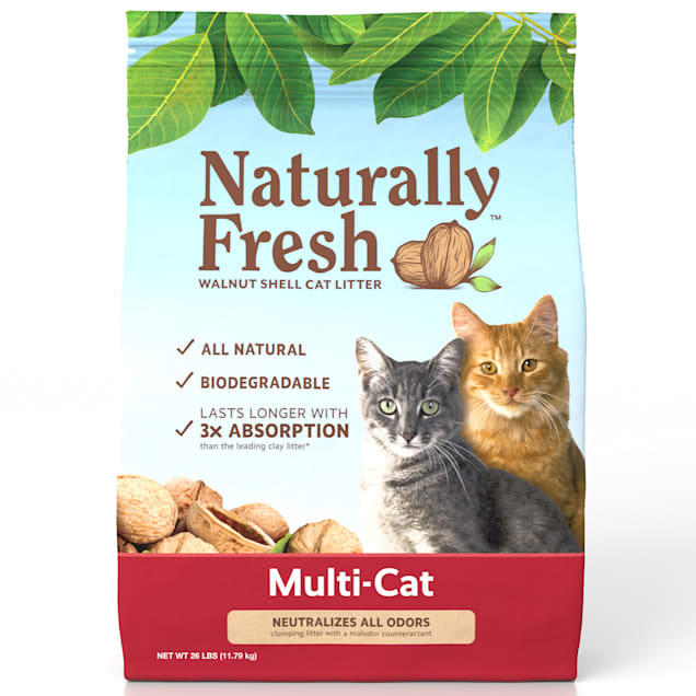 Naturally Fresh Quick-Clumping Natural Multi-Cat Litter, 26 lbs. - Carousel image #1