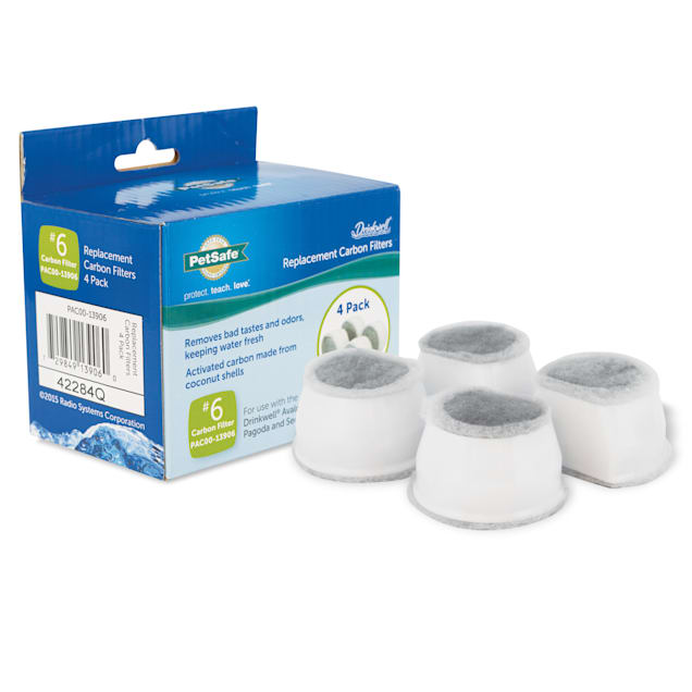Drinkwell Pagoda & Avalon Fountain Replacement Filters, 4 pack - Carousel image #1