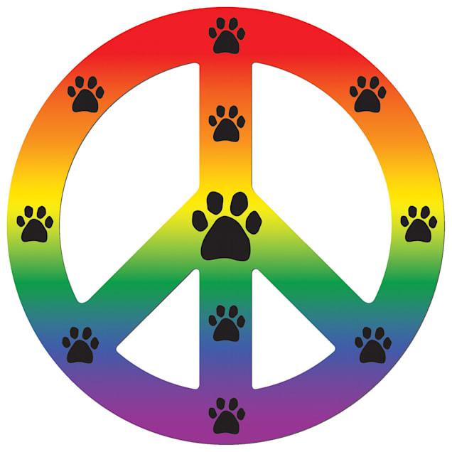Imagine This Magnet Peace Dog Rainbow, Small - Carousel image #1