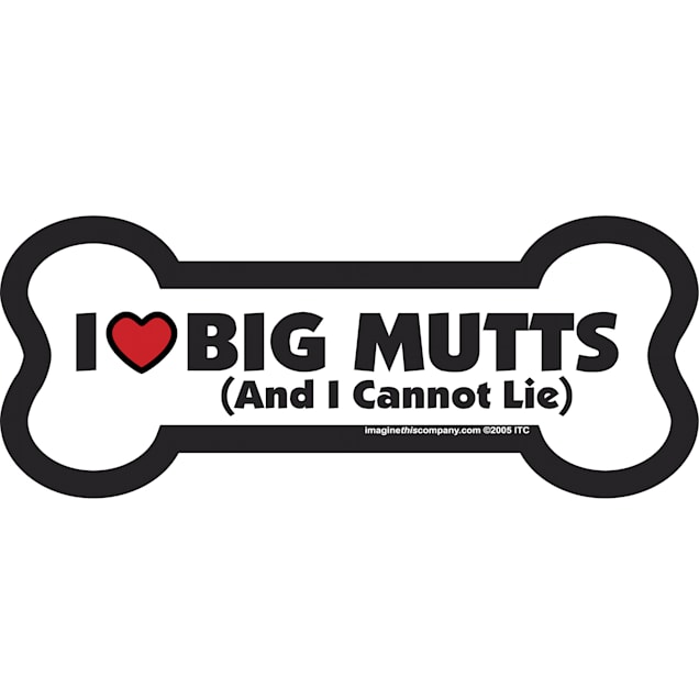 Imagine This Magnet I Love Big Mutts for Dogs, Small - Carousel image #1