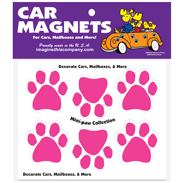 Imagine This Magnet Mini Paws in Pink for Dogs, Small - Carousel image #1