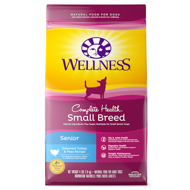 Wellness Complete Health Natural Small Breed Senior Health Recipe Dry Dog Food, 4 lbs. - Carousel image #1