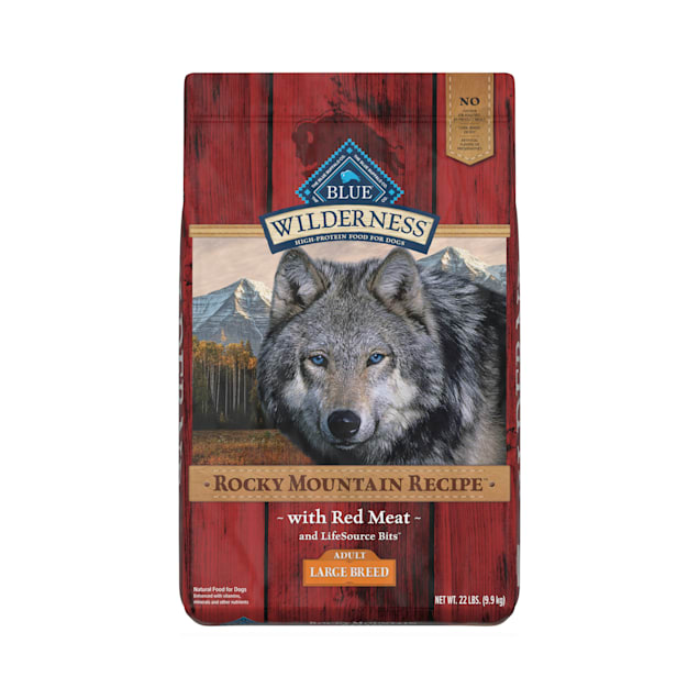 Blue Buffalo Wilderness Rocky Mountain Recipe Natural Adult High Protein Grain Free Large Breed Red Meat Dry Dog Food, 22 lbs. - Carousel image #1