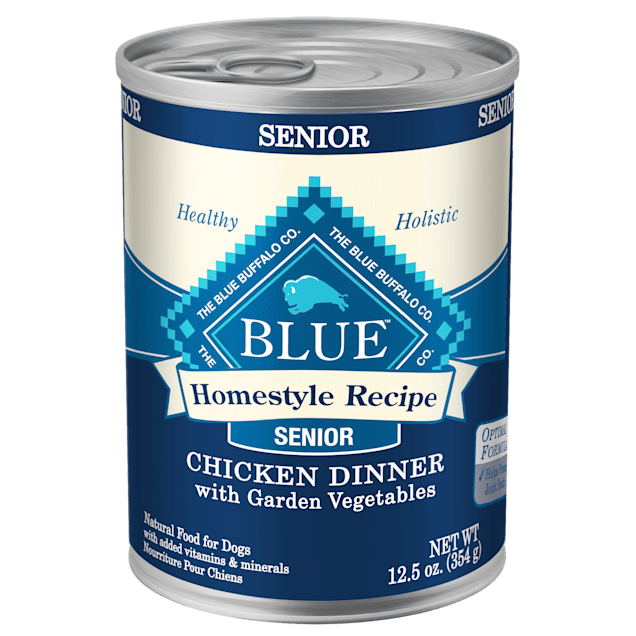 Blue Buffalo Blue Homestyle Recipe Senior Chicken Dinner with Garden Vegetables Wet Dog Food, 12.5 oz., Case of 12 - Carousel image #1