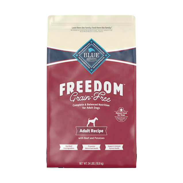 Blue Buffalo Blue Freedom Grain-Free Adult Beef Recipe Dry Dog Food, 24 lbs. - Carousel image #1