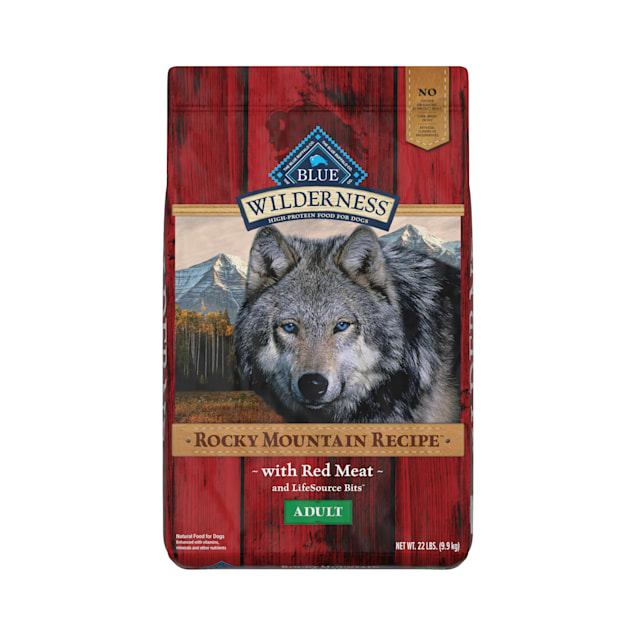 Blue Buffalo Wilderness Rocky Mountain Recipe Natural Adult High Protein Grain Free Red Meat Dry Dog Food, 22 lbs. - Carousel image #1