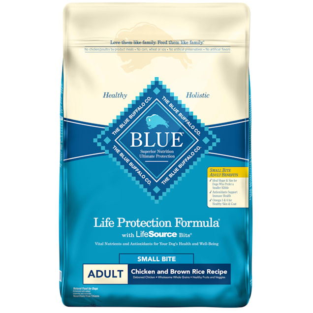Blue Buffalo Life Protection Formula Natural Adult Small Bite Chicken and Brown Rice Dry Dog Food, 30 lbs. - Carousel image #1
