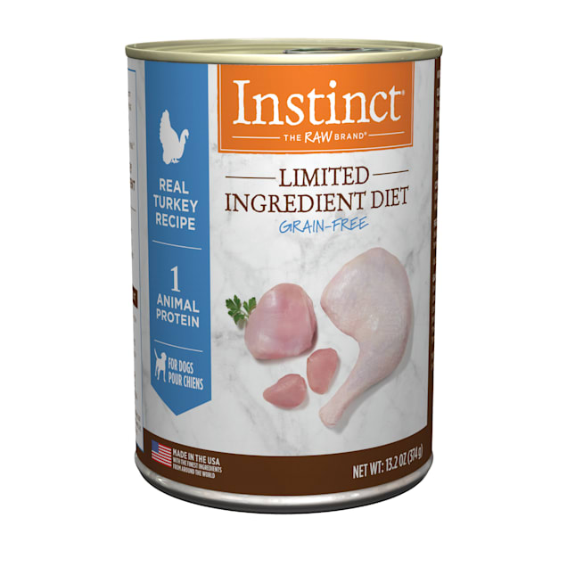 Instinct Grain-Free Limited Ingredient Diet Turkey Canned Wet Dog Food by Nature's Variety, 13.2 oz., Case of 6 - Carousel image #1