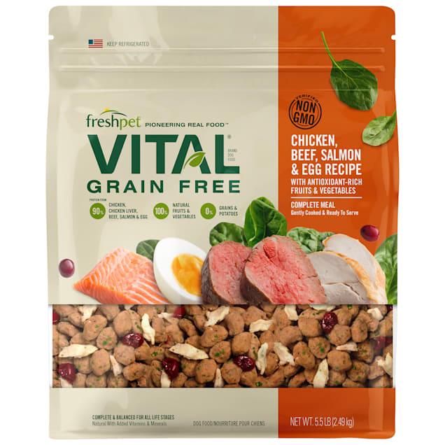 Freshpet Vital Complete Meals Grain-Free Chicken, Beef, Salmon & Egg Fresh Dog Food, 5.5 lbs. - Carousel image #1