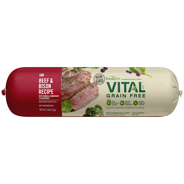 Freshpet Vital Grain-Free Beef & Bison Fresh Dog Food, 5 lbs. - Carousel image #1