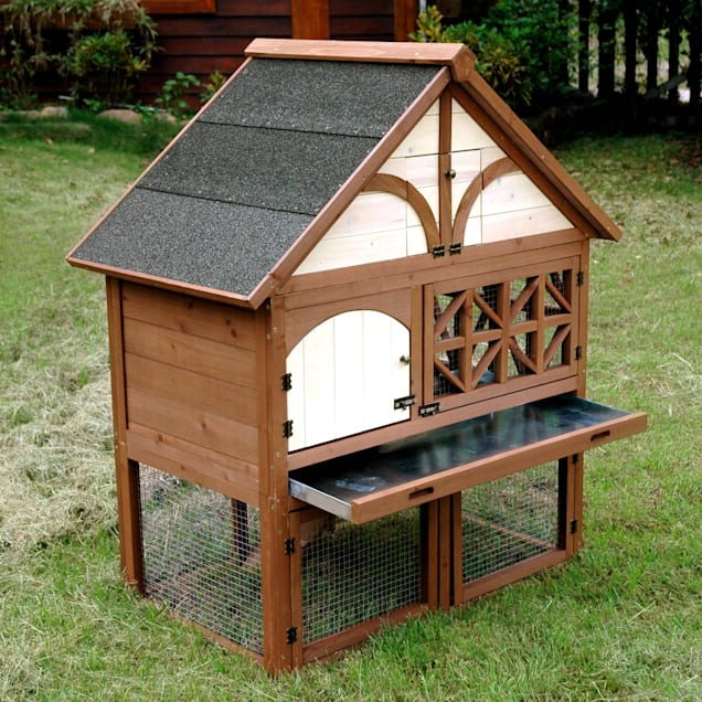 "Merry Products Tudor Rabbit Hutch, 42"" L X 24""W X 56"" H - Carousel image #1"