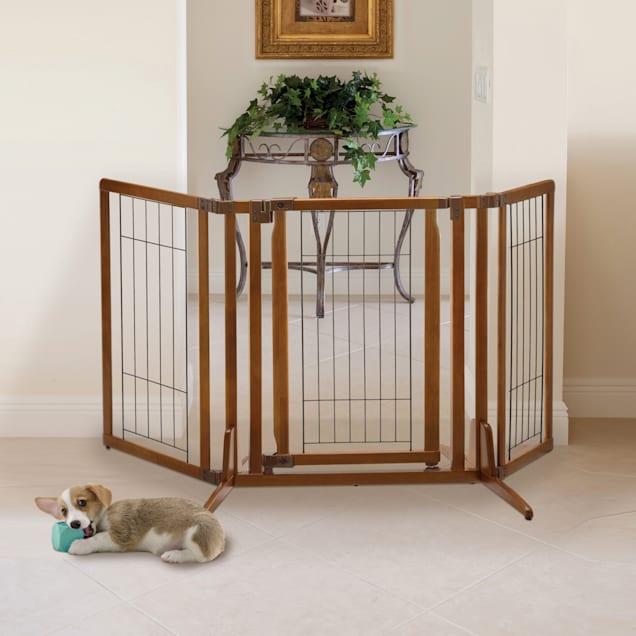 "Richell Premium Plus Freestanding Pet Gate, 63"" L X 26"" W - Carousel image #1"